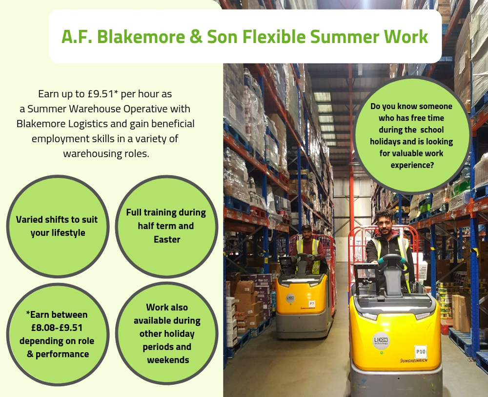 A.F. Blakemore summer work