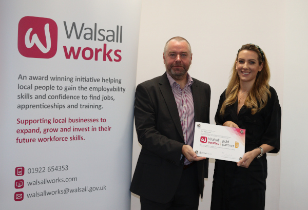 A.F. Blakemore collects Walsall Works Gold Partner award