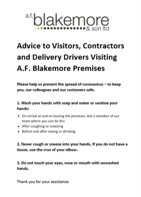 Advice to visitors
