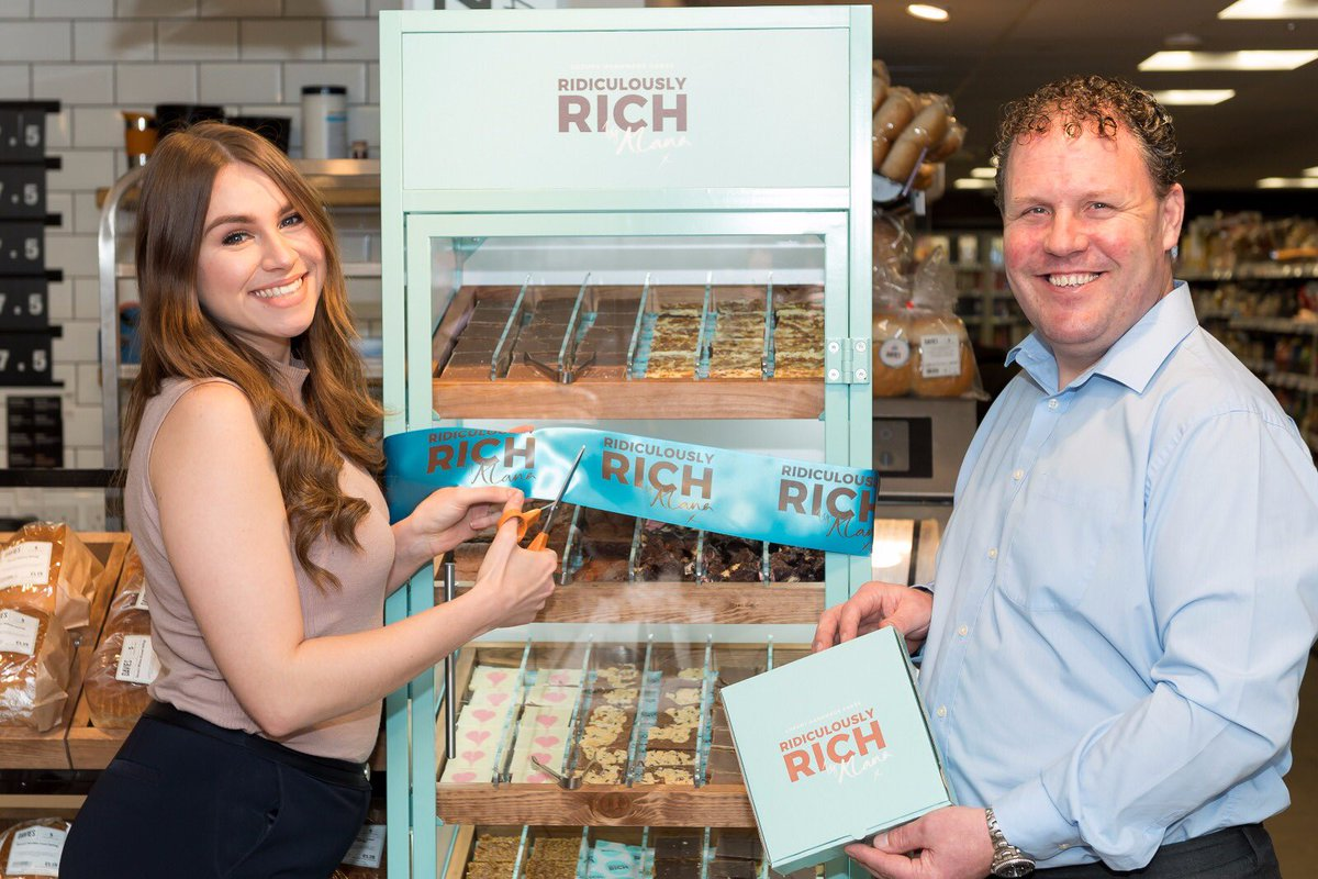 Alana Spencer launches Ridiculously Rich at SPAR Pwllheli