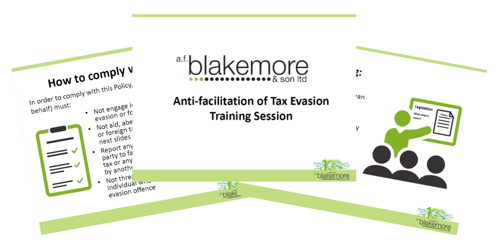 Anti-facilitation of Tax Evasion Policy
