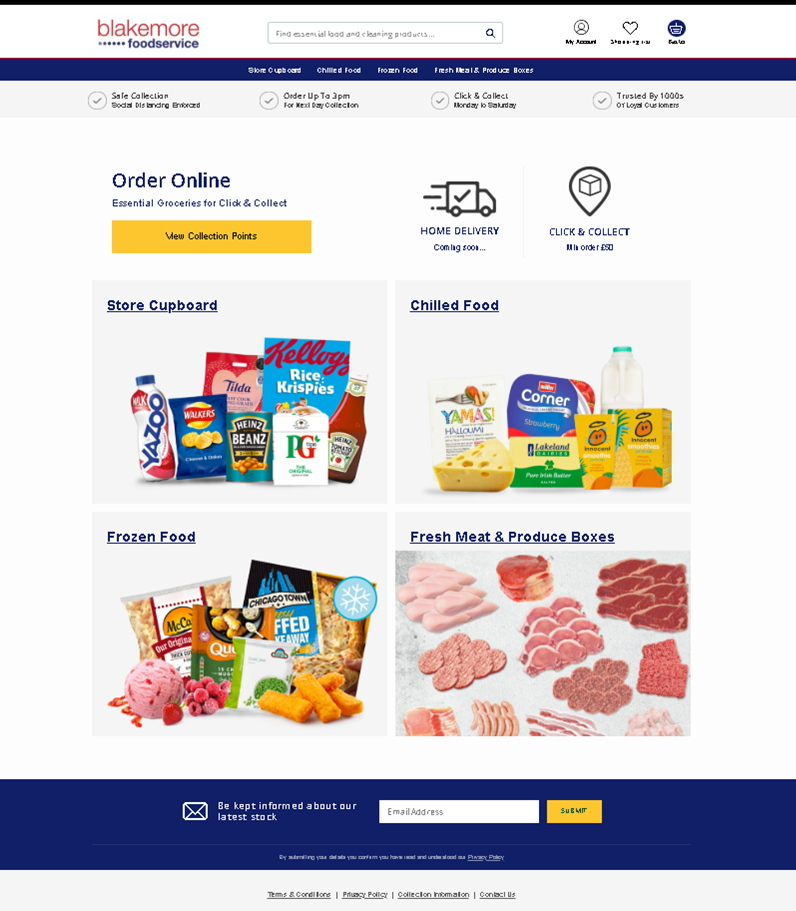 Click & collect website