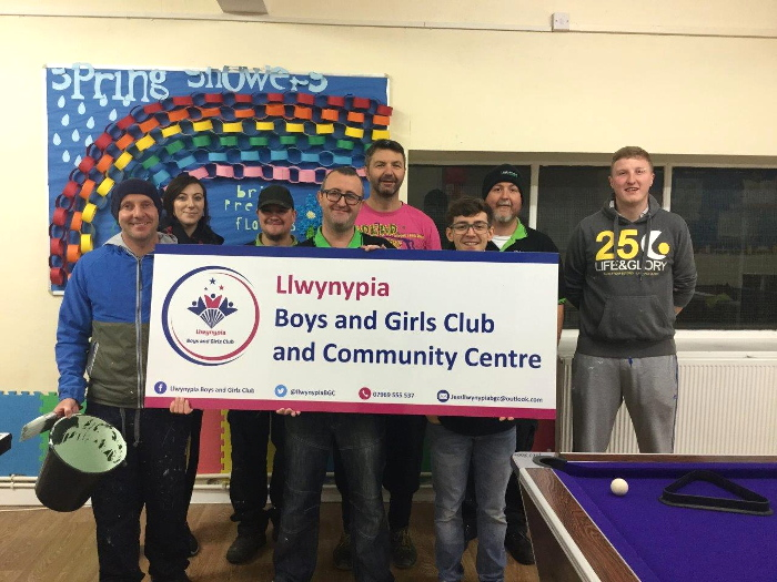 Blakemore Logistics volunteers at Llwynypia Community Centre