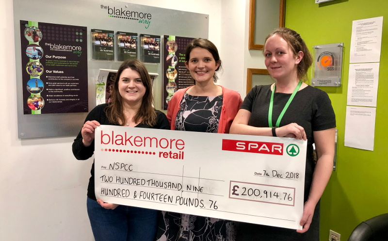 Blakemore Retail awards NSPCC £200,000