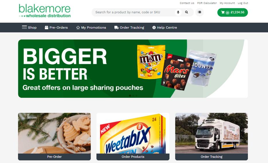 Blakemore Wholesale Distribution website