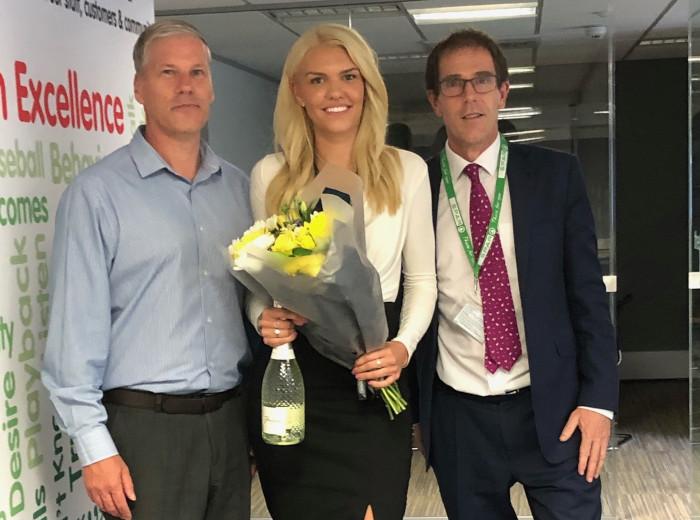 Celebrating Chloe's award win