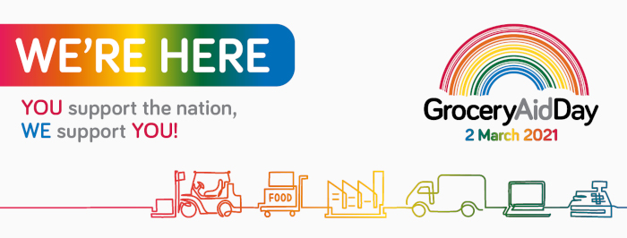 GroceryAid Awareness Day banner
