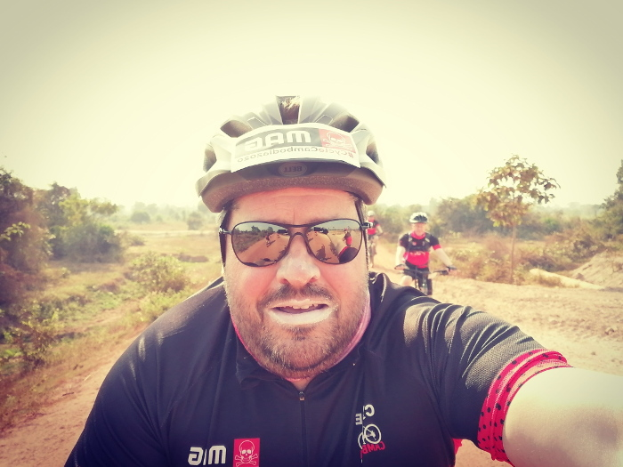 James cycling
