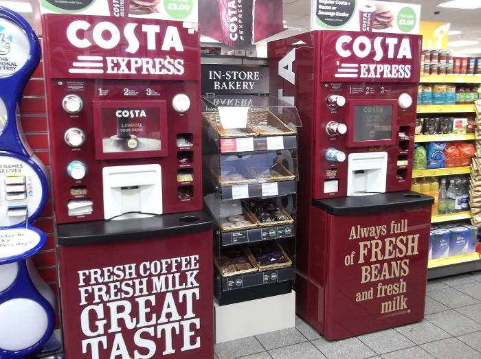 New Costa Coffee machine