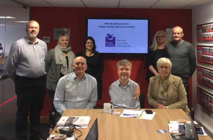 Purple CEO Mike Adams visits Blakemore Retail head office