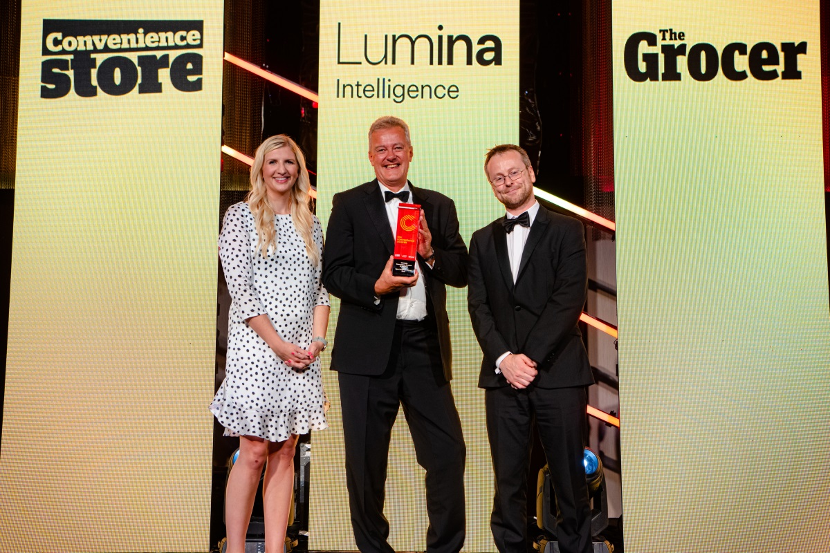 David Charman collects Convenience Retailer of the Year award