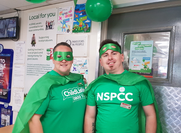 SPAR Brackla NSPCC fundraising
