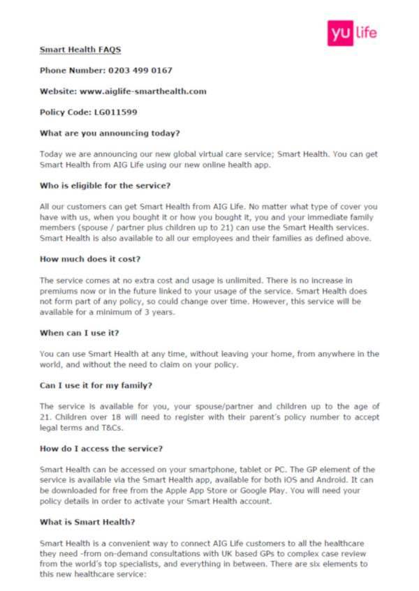 Smart Health FAQs