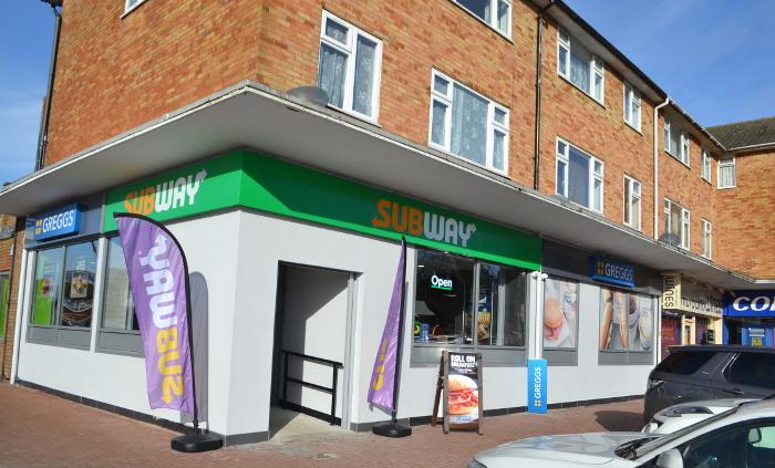 Subway and Greggs at Staplehurst