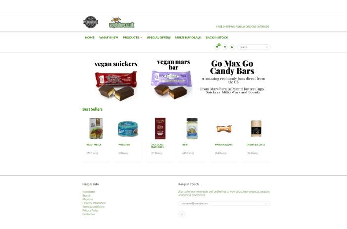 Vegan Store website