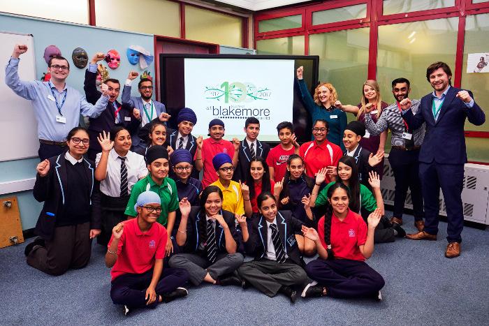 A.F._Blakemore_graduates_visit_the_Khalsa_Academy