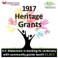 A.F. Blakemore Launches 1917 Heritage Grants Scheme
