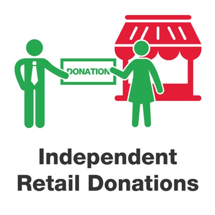 Independent retail donations