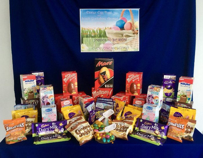 SPAR_Tickhill_donates_chocolate_eggs_and_treats_to_RSPCA_Easter_egg_hunt